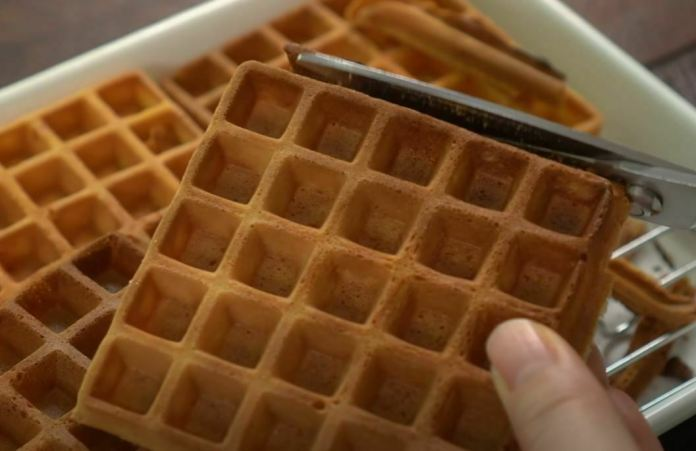 cutting waffles