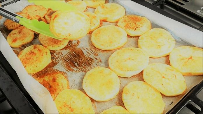 roasting potatoes