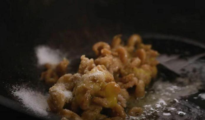 salt on shrimp