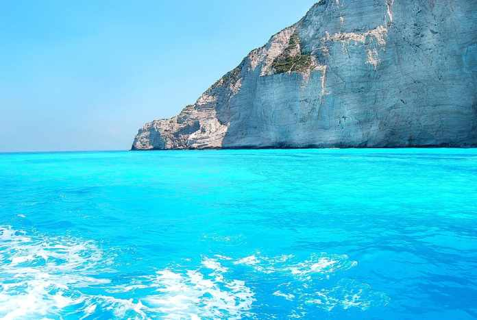 Ionian Islands blue sea