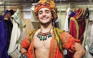 Giuseppe Bausilio in costume for Aladdin