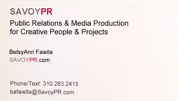 Savoy PR