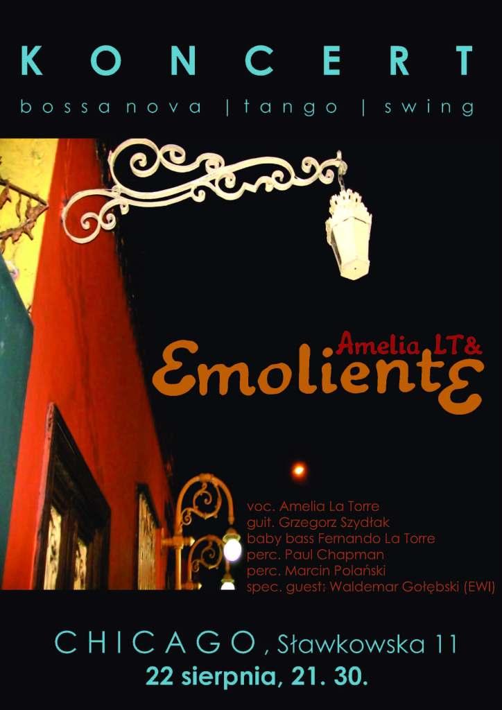 plakat Amelia La Torre & Emoliente chicago