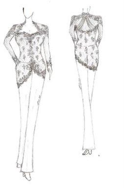 Contoh Desain Sketsa Kebaya Fashion Busana Adat Cute766