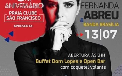Fernanda Abreu atração dos 61º aniversário do PCSF