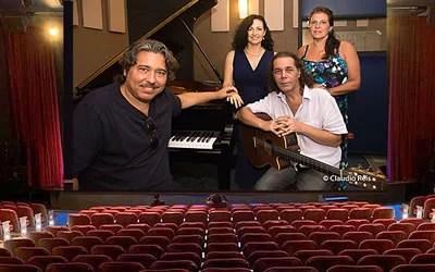 Tom Jobim e Michel Legrand na Sala Nelson Pereira dos Santos