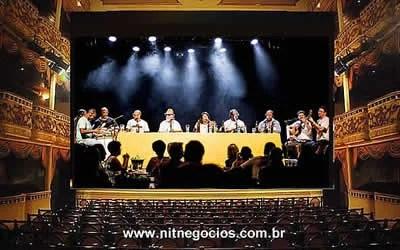 Candongueiro em live no Theatro Municipal de Niterói