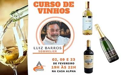 Curso de Vinhos com o sommelier Luiz Barros
