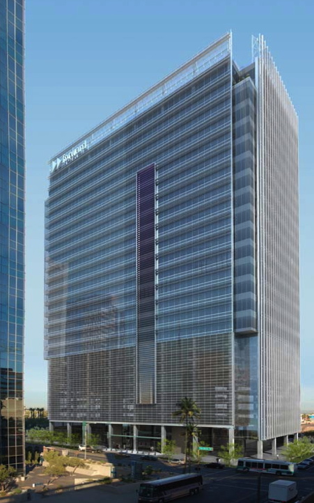 Rendering of One Central Park East, downtown Phoenix