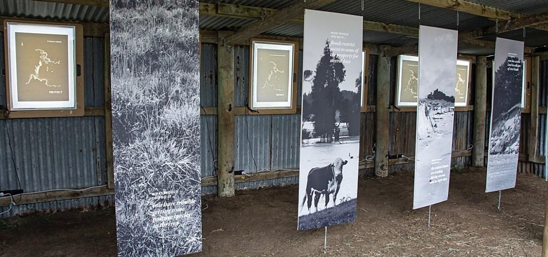 Climate change and art - Korero Tuku Iho shed, Kuku, Horowhenua