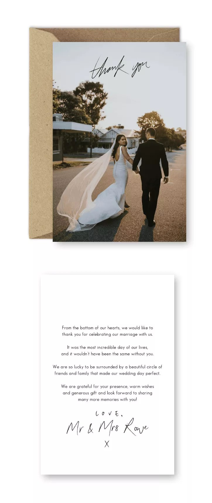 Thank You Message For Wedding Guests : thank, message, wedding, guests, Wedding, Thank, Cards, Wording, Examples