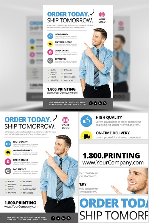 Printing Services Flyer Template 2