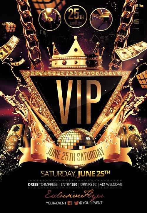 Flyer Template VIP Party Facebook Cover » NitroGFX