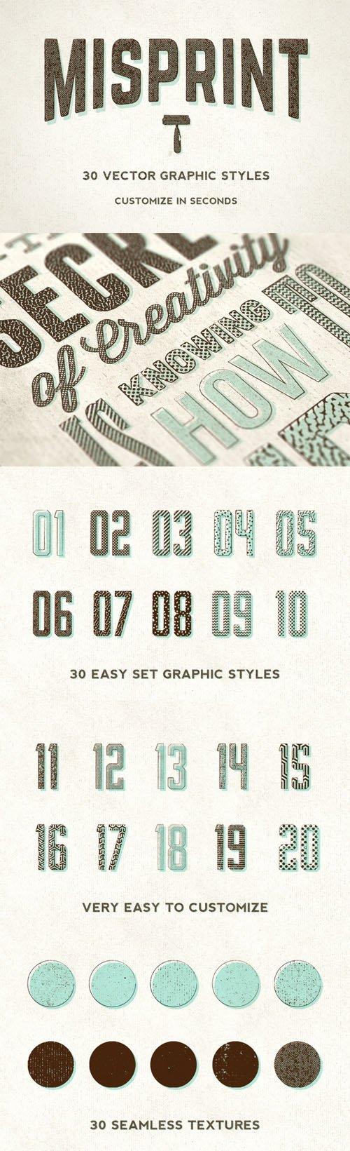 Creativemarket - Misprint Graphic Styles 41000