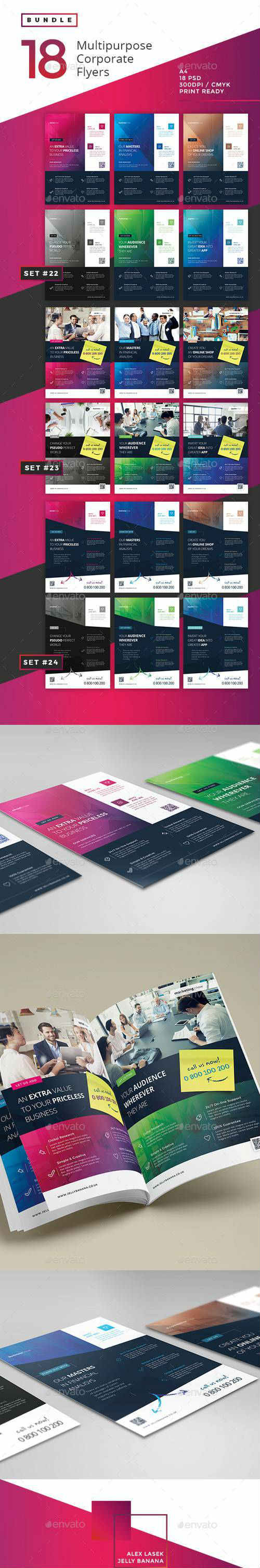 Corporate Flyer Bundle 8 - 18PSD 14322187