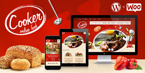 ThemeForest - Cooker v2.0 - Responsive Online Restaurant, Cafe Bar - 3717183