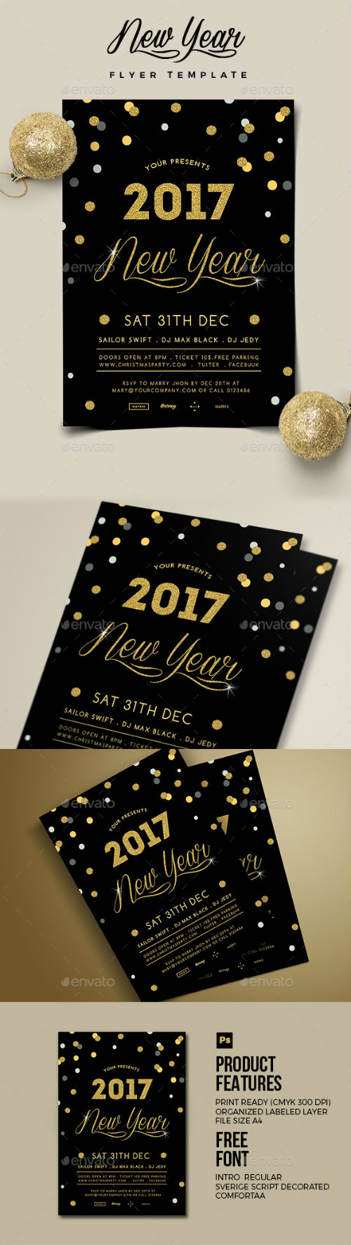 New Year Flyer 19078783