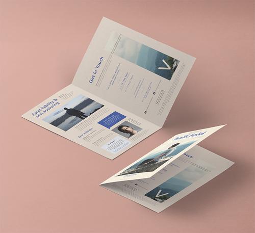 Half Fold 8-5x11 Inch Mockup Vol 2