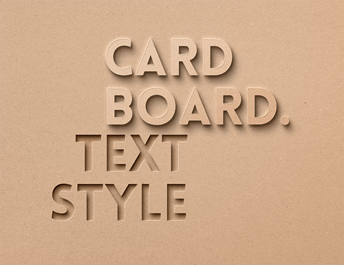 Card Board Text Effect