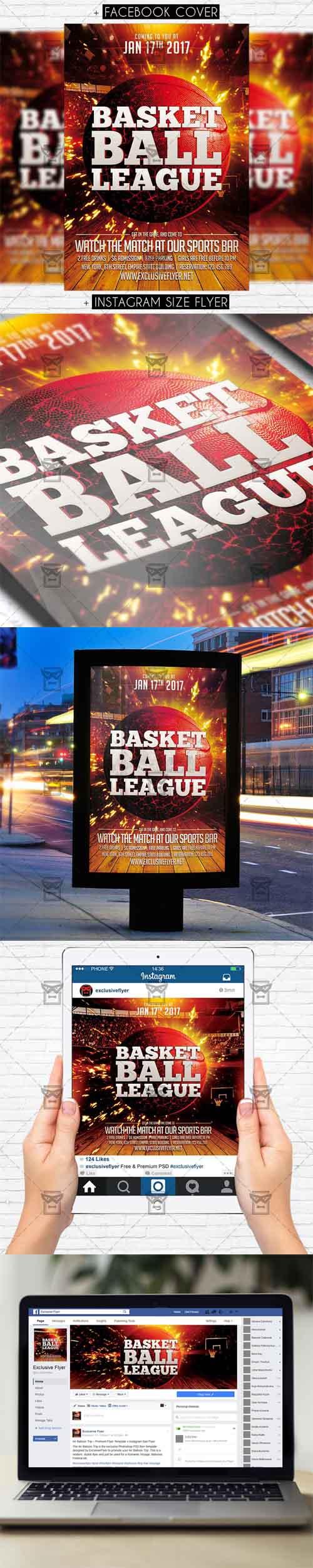 Flyer Template - Basketball League