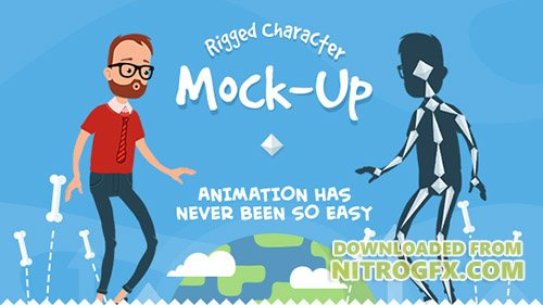 Rigmo - Rigged Character Animation Mockup - Project for After Effects (Videohive)