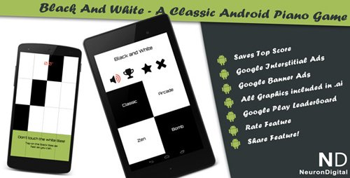 CodeCanyon - Black and White - A Classical Android Piano Game (Update: 28 August 14) - 8193670