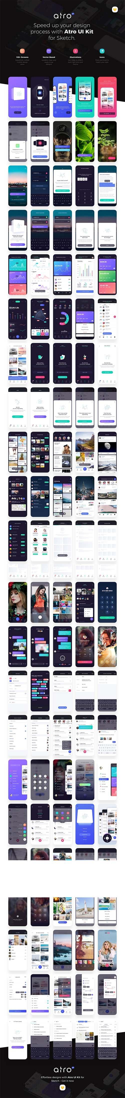 Atro Mobile UI Kit
