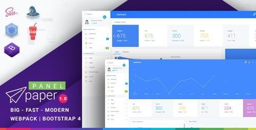 ThemeForest - Paper v1.0.1 - Bootstrap 4 Admin Template - 21985348