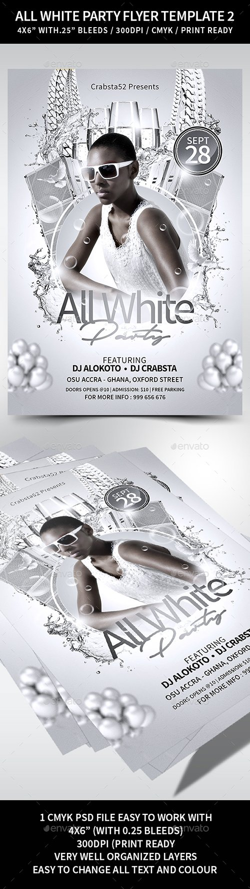 GraphicRiver - All White Party Flyer Template 2 22351528