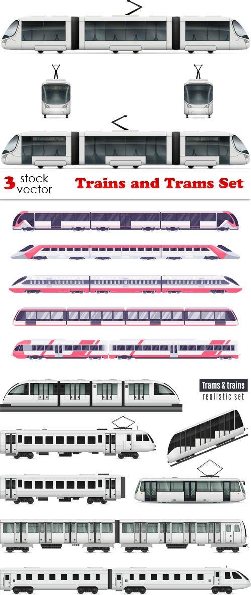 Vectors - Trains and Trams Set