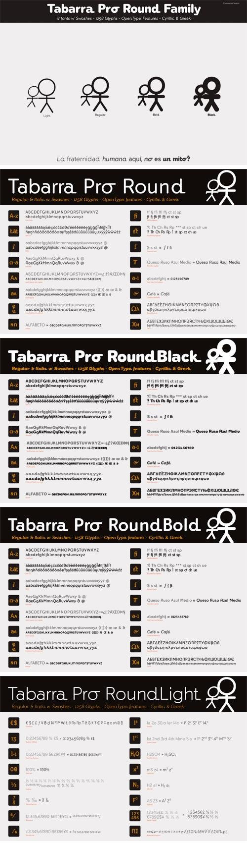 Tabarra Pro Round Font Family