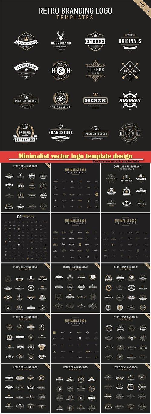 Minimalist vector logo template design