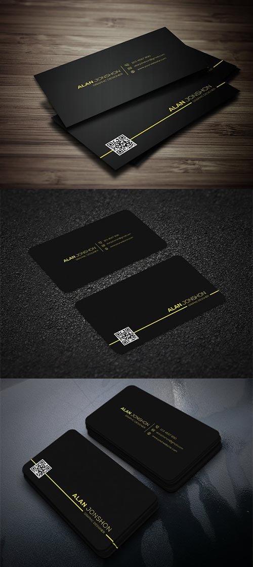 CreativeMarket - Black Business Card 2968188