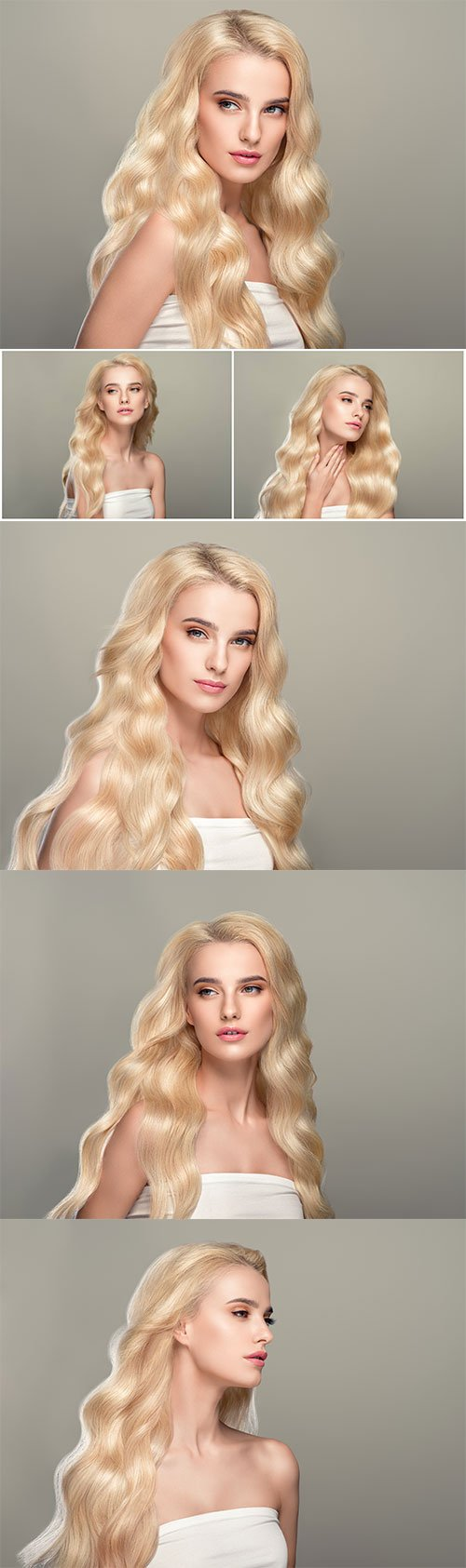 Beautiful girl with wavy white hair