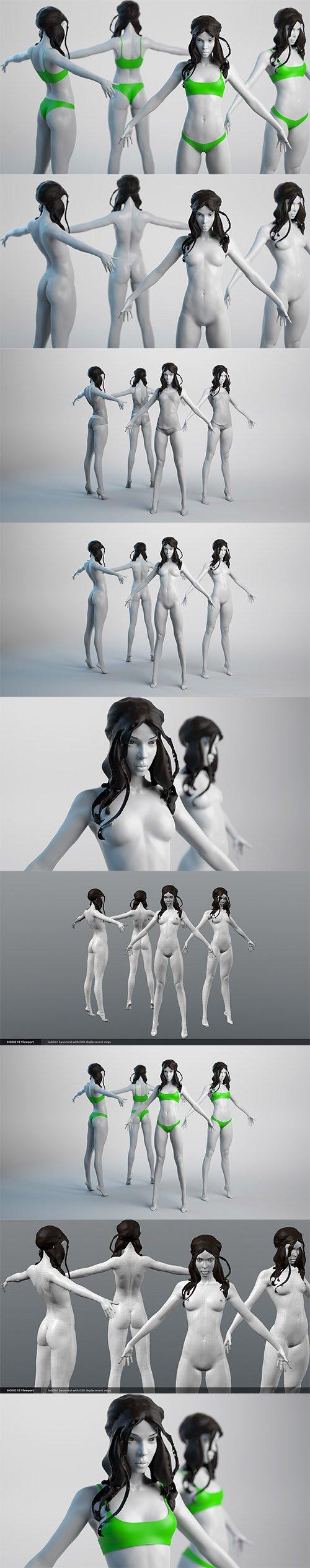Cubebrush - Female Basemesh 04