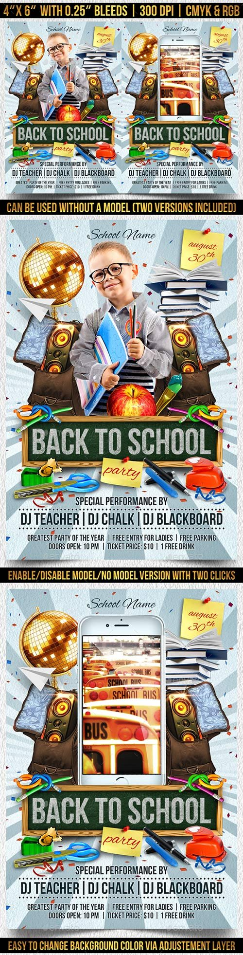 GraphicRiver - Back to School Flyer Template 22486677