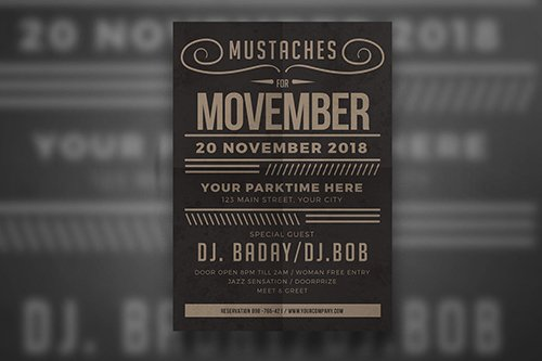 PSD Movember Fest Flyer