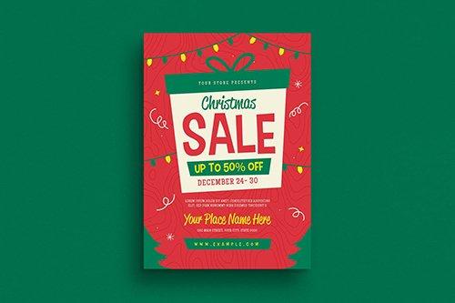 PSD Holiday Christmas Sale Flyer
