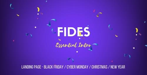 ThemeForest - Fides v1.0 - Essential Intro | Black Friday | Cyber Monday | Christmas | Campaign Landing Page Template - 22889193