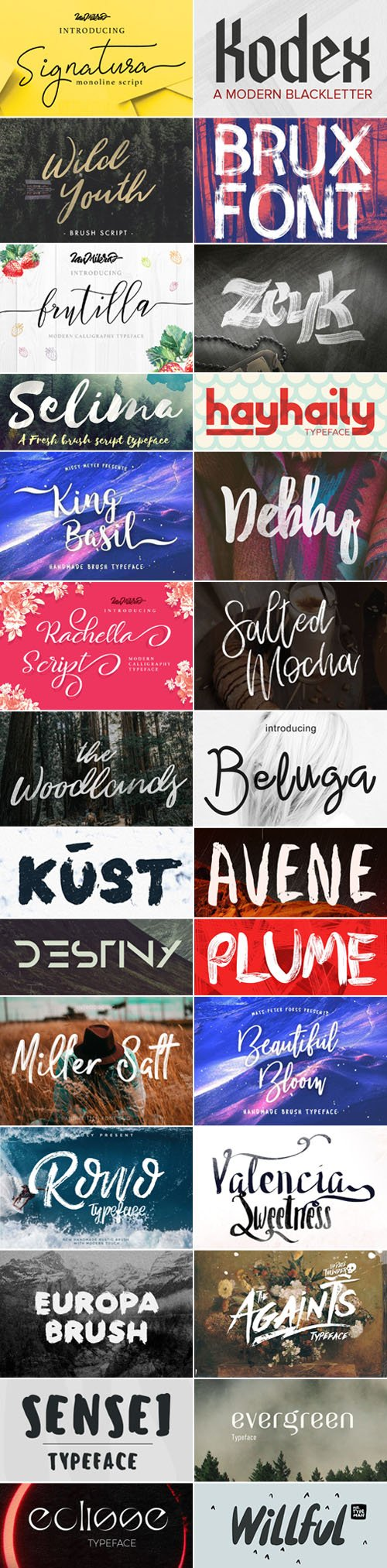 29 Creative High Quality Fonts