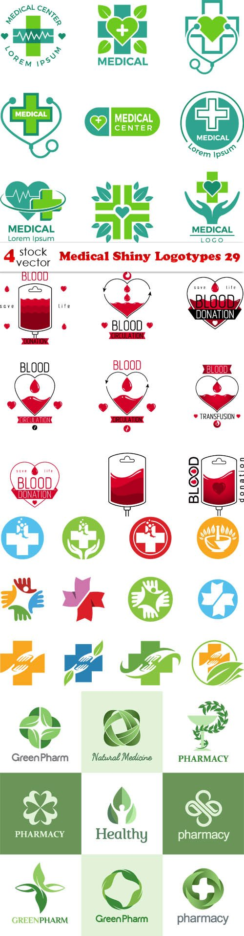 Vectors - Medical Shiny Logotypes 29