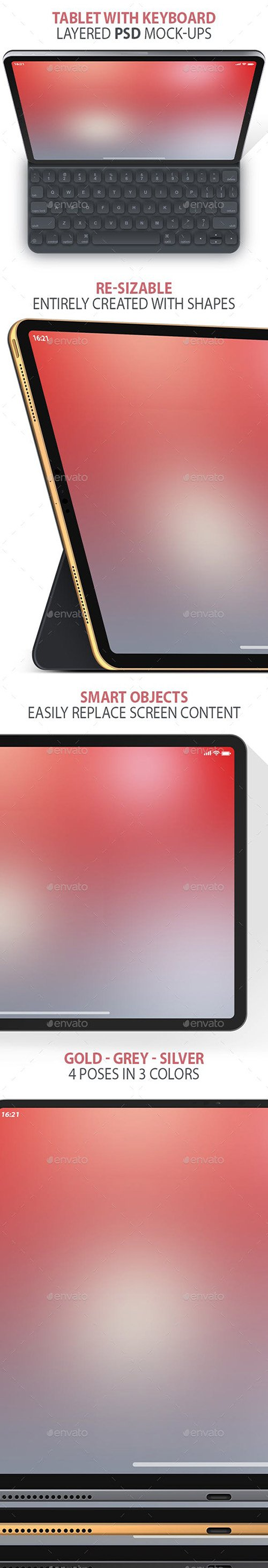 GR - Clean Tablet Layered PSD Mock-ups 23086943