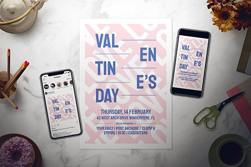 Modern Valentine's Day Flyer Set