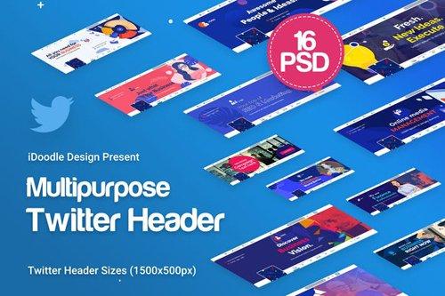 Twitter Headers Multipurpose, Business Ad - UDPEA6