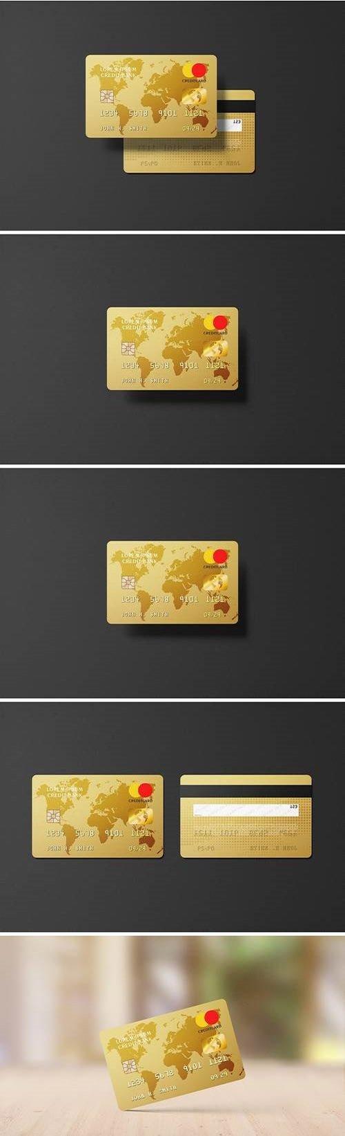 Golden Credit Card Mockup