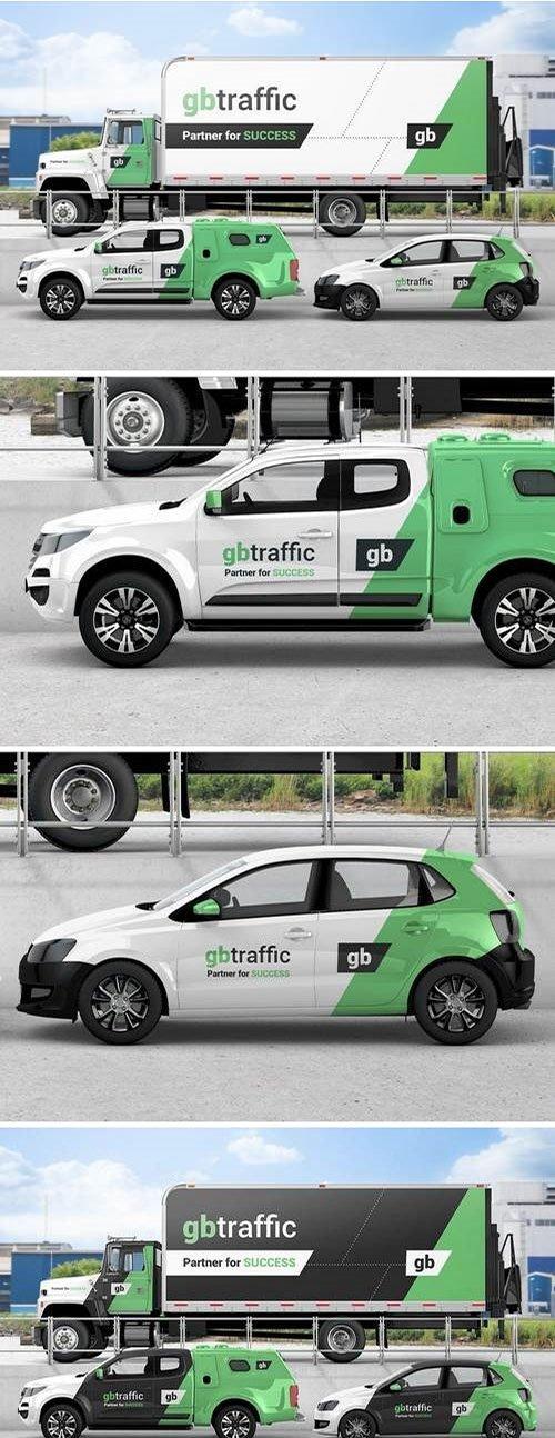 Vehicle Branding Mockup PSD