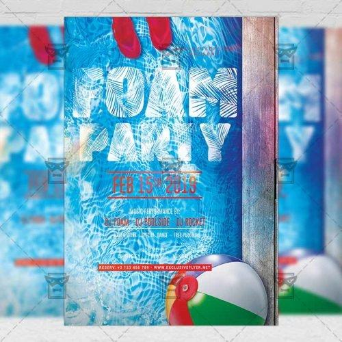 Club A5 Template - Foam Night Party Flyer