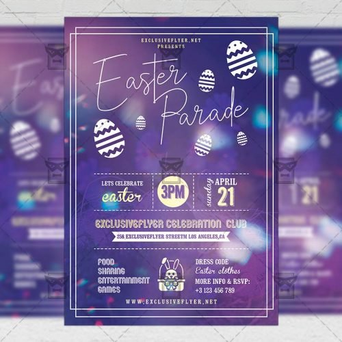 Seasonal A5 Template - Easter Parade Flyer
