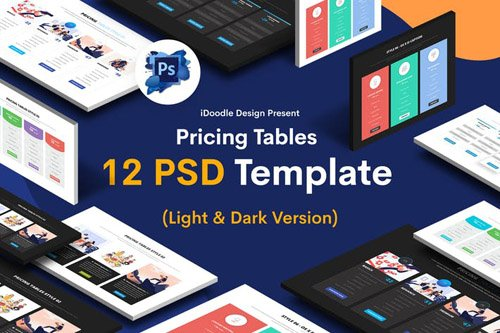 Pricing Tables PSD UI Kits