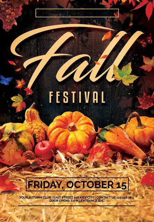 Fall fest - Premium flyer psd template